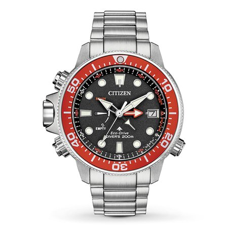 NWT Citizen Men's Eco-Drive Promaster Aqualand BN2039-59E Stainless Steel Bracelet with Black Dial Watch (Aqualand Citizen Watch)