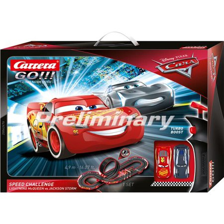Carrera GO 62476 Disney Pixar Cars Speed Challenge Electric Slot Car Racing Track Set 1:43 Scale ()