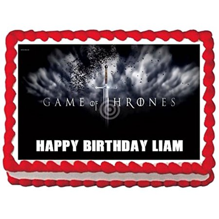GAME OF THRONES EDIBLE IMAGE CAKE TOPPER PARTY DECORATIONS