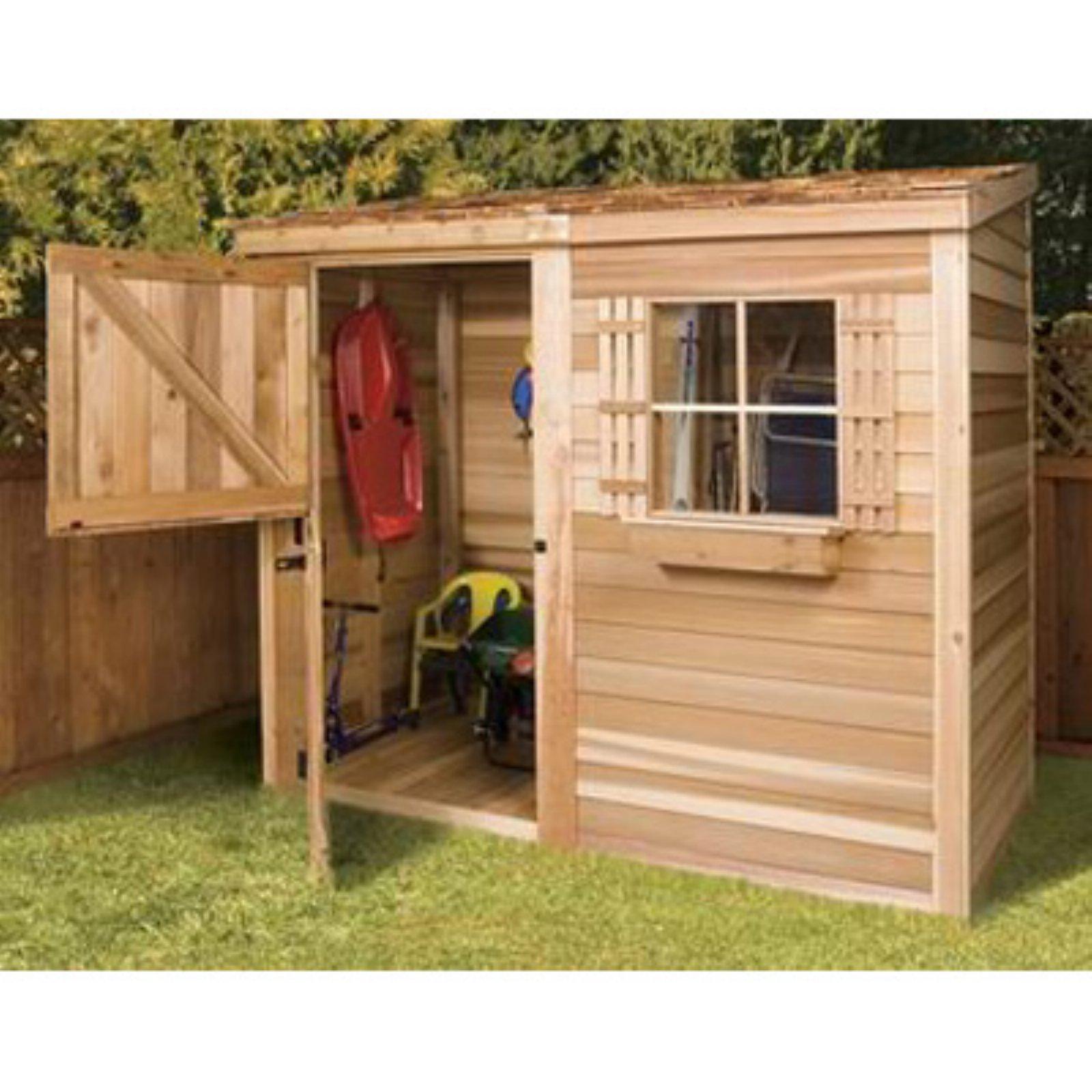 Cedar Shed 8 x 4 ft. Bayside Wood Storage Shed - Walmart.com