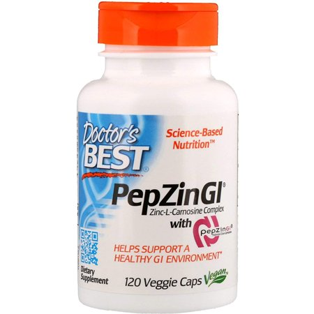 Zinc-CarnosineWalmartplex with PepZin GI - 120 ct, PepZin GI (37.5 mg) By Doctors