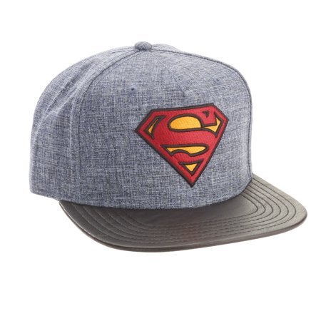 Superman Logo Black Bill Cap