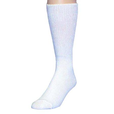 HealthTrak Men's No-Bind Comfort Top King Crew Socks - 2 Pack   Black M Sock 13-16   991K-13-16 (Ruger M77 Mark Ii Stock For Sale)