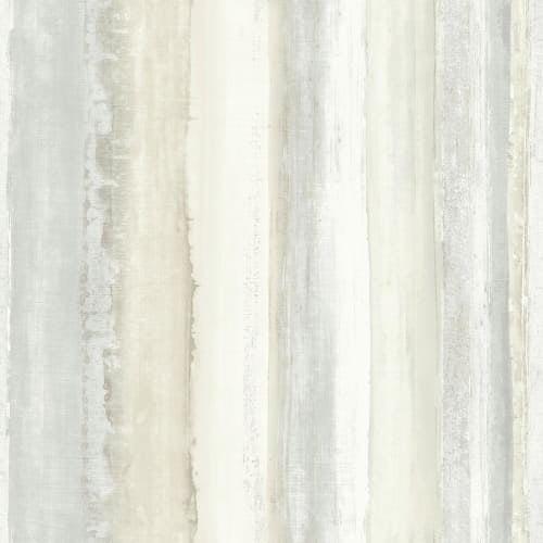 RoomMates Tan Watercolor Stripe Peel & Stick Wallpaper