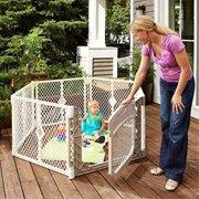 North States Superyard Ultimate Baby/Pet Gate & Play Yard - Ivory | 8779