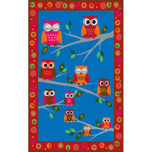Kid Carpet Hoot Hoot Owl Childrens Area Rug