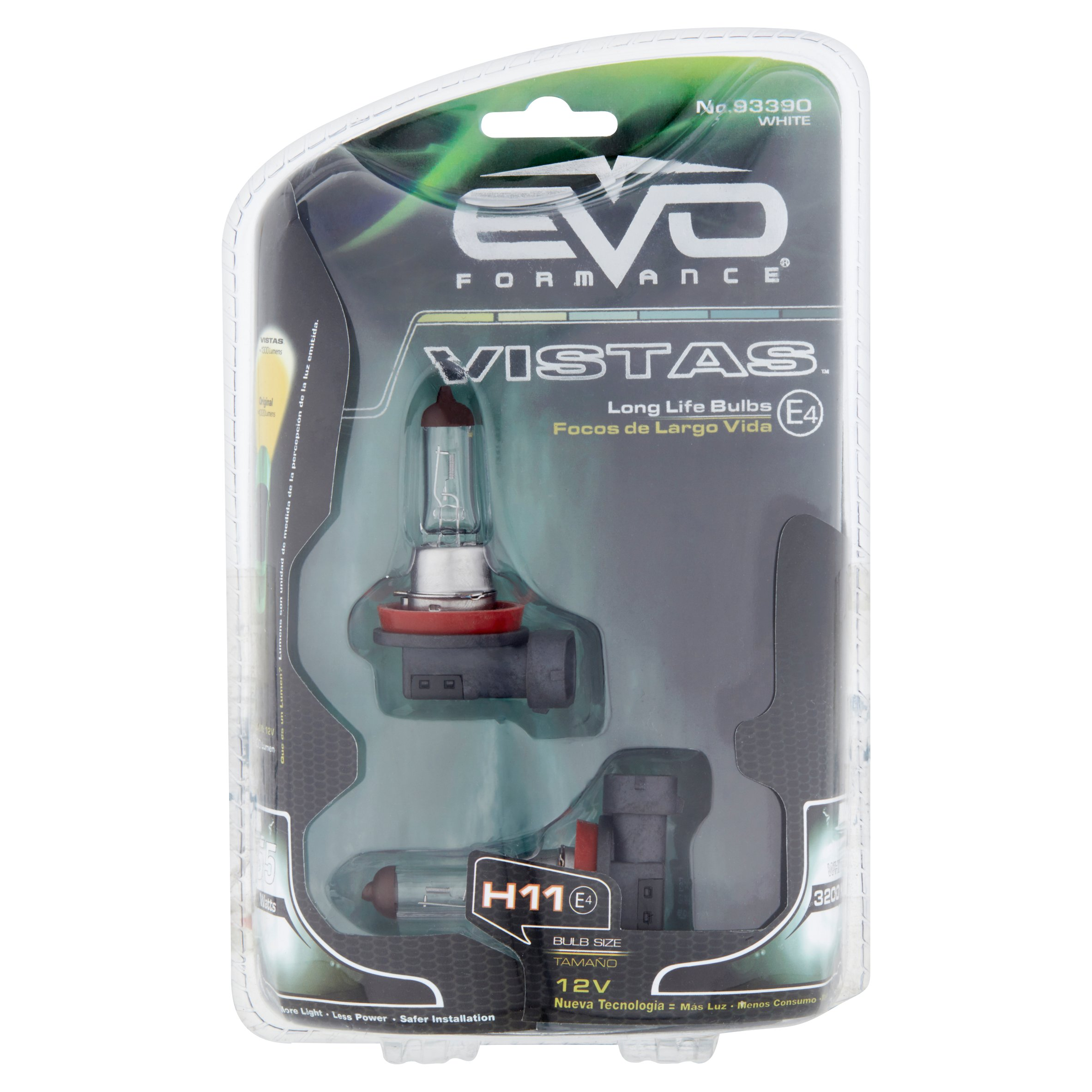 Evo Formance Vistas H11 E4 12 V Long Life White Bulbs