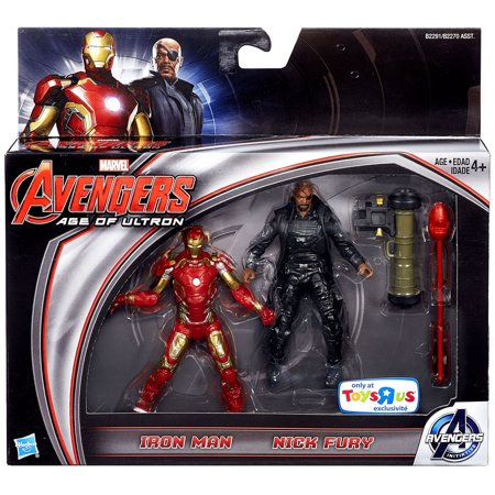 Marvel Avengers Age of Ultron Iron Man & Nick Fury Action Figure 2-Pack