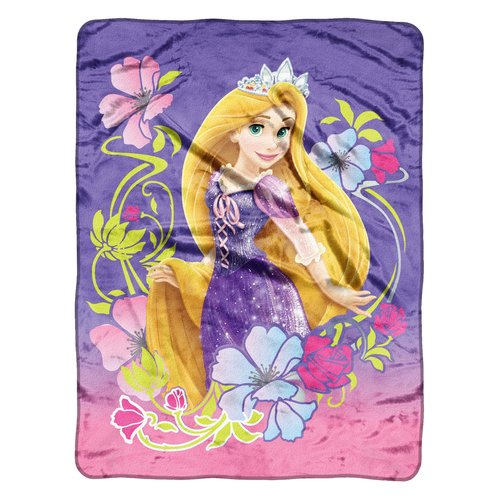 "Tangled Tangled Flowers 46"" x 60"" Micro-Raschel Throw"