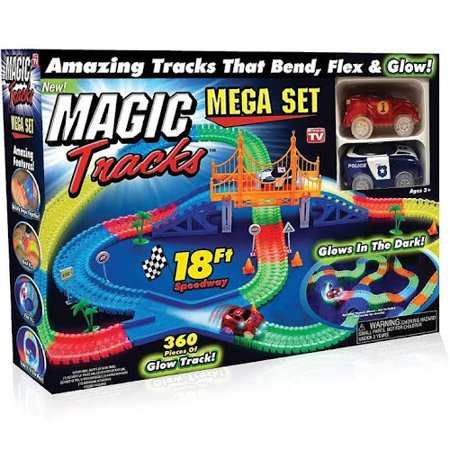 NEW! Magic Tracks 18ft Racetrack Mega Set with 2 Cars As Seen On TV