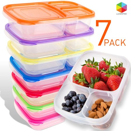 Meal Prep Containers Bento Lunch Box 7 Pack Microwave, Dishwasher and Freezer Safe Food Storage Container Boxes for Kids & Adults - Halloween Kids Food Ideas