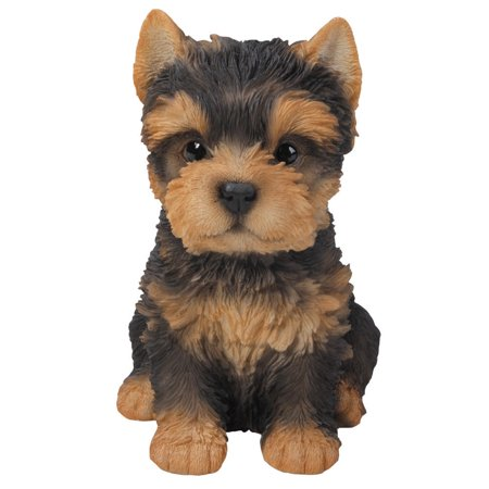 6.4 inches Yorkshire Terrier Puppy Figurine Statues Collectible