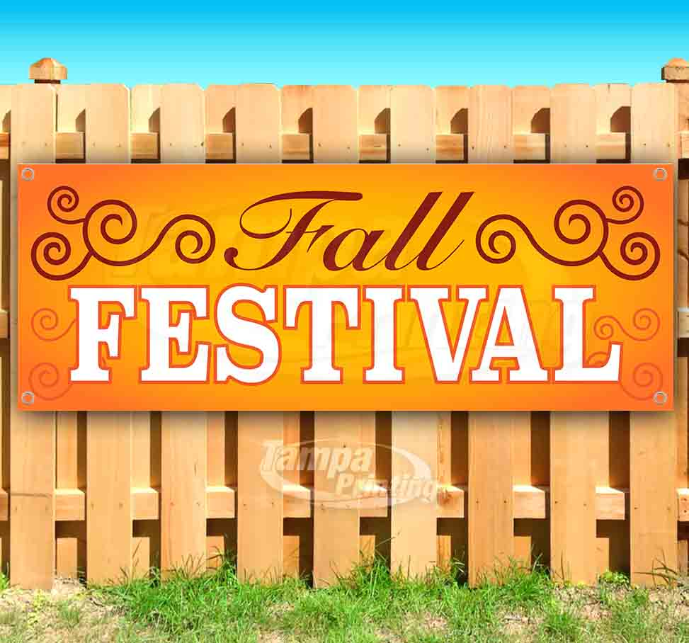 Flag, Many Sizes Available Store Autumn Festival 13 oz Heavy Duty Vinyl Banner Sign with Metal Grommets New Advertising