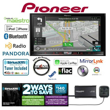 Pioneer AVIC-7200NEX GPS DVD Receiver w/ SiriusXM Satellite Radio SXV300v1 In-Dash Navigation AV Receiver with 7