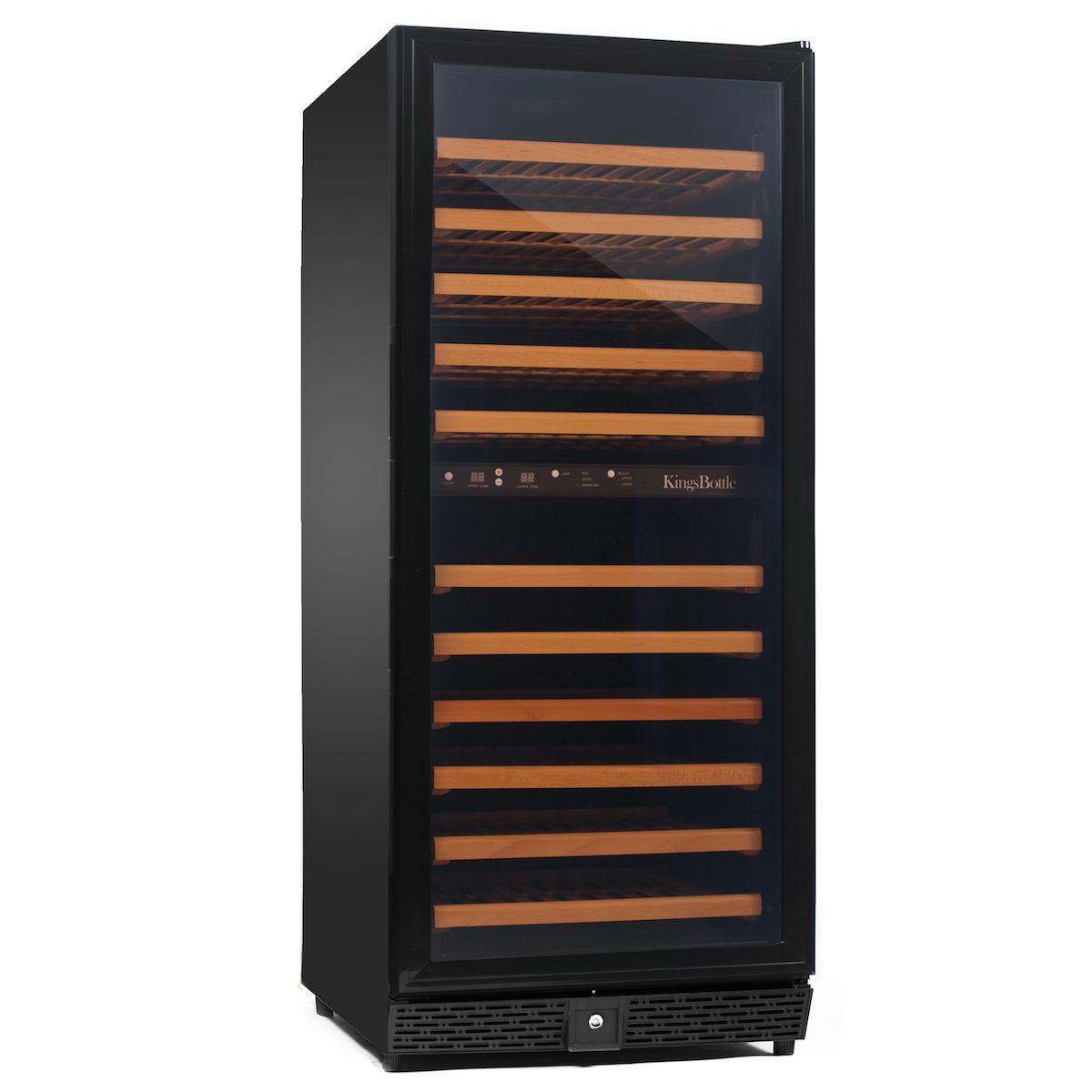 Kings Bottle KBU-120D-BP Dual Zone Compressor Glass Door Wine Cooler