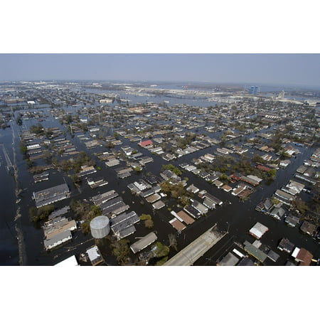 Laminated Poster New Orleans City Louisiana After Hurricane Katrina Poster Print 11 x 17