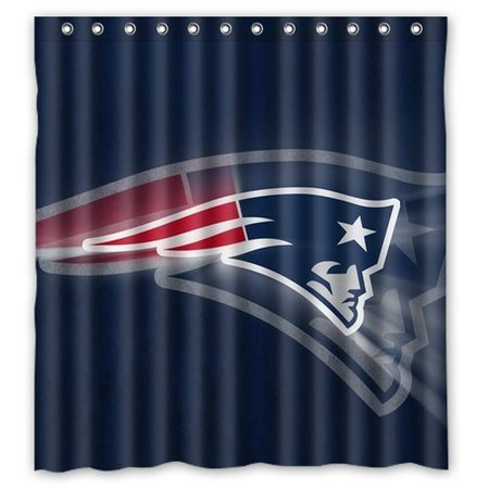DEYOU New England Patriots Tom Brady Shower Curtain Polyester Fabric Bathroom Size 66x72 Inches