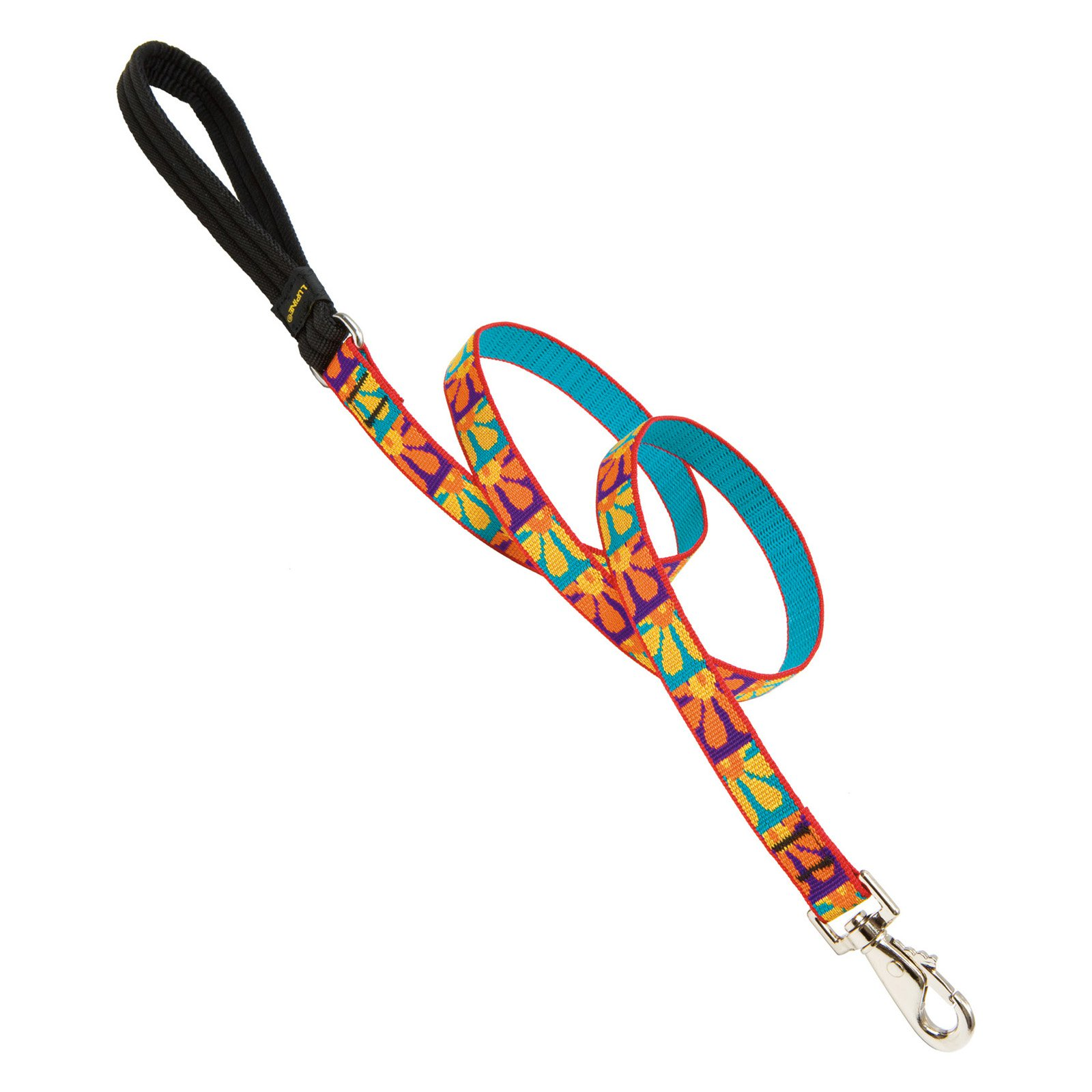 """Lupine Collars and Leads 31007 3/4"""" x 4' Crazy Daisy Design Dog Lead"""