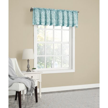 Alphabet Window Valance (Mainstays Textured Solid Curtain)