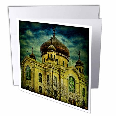 Russian Halloween Party Brooklyn (3dRose Russian Orthodox Church Brooklyn, Greeting Cards, 6 x 6 inches, set of)