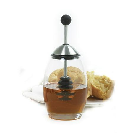 Honey Dipper (Norpro New Honey Pot Set Glass Jar With Silicone Dipper Stick 10 Oz 7.5
