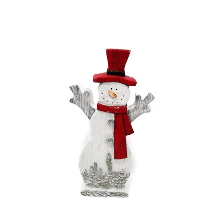 """Image of 17"""" Snowman w/Red Hat & Scarf D ©cor"""
