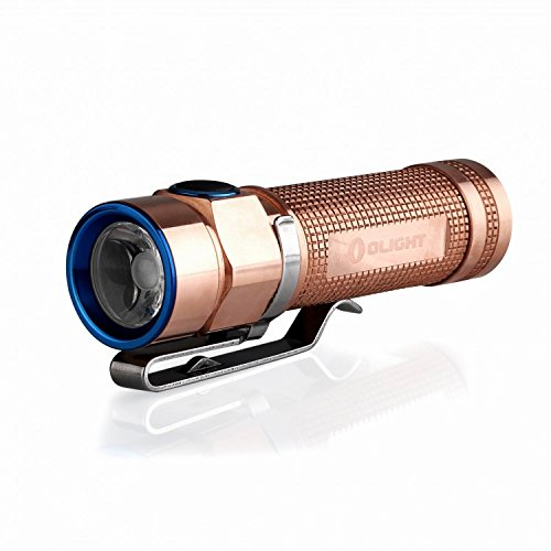 Olight S1A Baton CU 600 Lumens Cree XM-L2 LED AA/14500 Flashlight(Rose Gold)