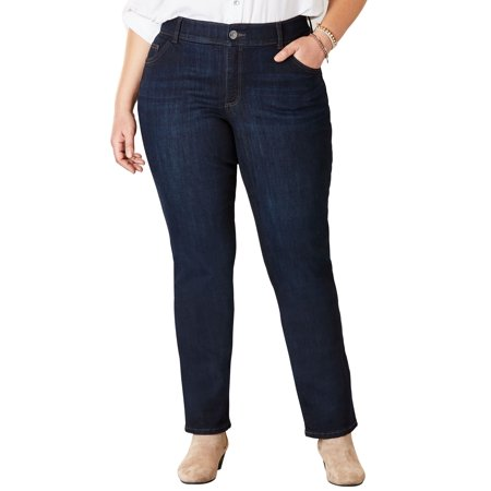 e104ee238a07d9 Woman Within - Plus Size Flex Motion Straight Leg Jean By Lee ...