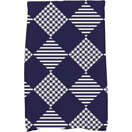 Simply Daisy 16   X 25   Check It Twice Holiday Geometric Print Kitchen Towel