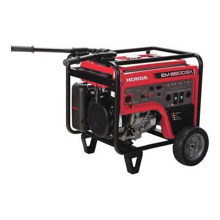HONDA 5500W Gas Portable Generator 120/240VAC Electric/Re...