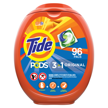 Tide Pods Original, Laundry Detergent Pacs, 96 (Best Detergent For Stinky Workout Clothes)
