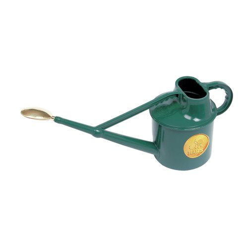 Haws Watering Cans Haws Plastic Deluxe Green Outdoor Watering Can 7 liters, 1.8 US gallons by
