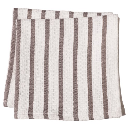 Harold Import Company Striped Dish Towel (Set of 2), Pewter and White by Harold Import Company
