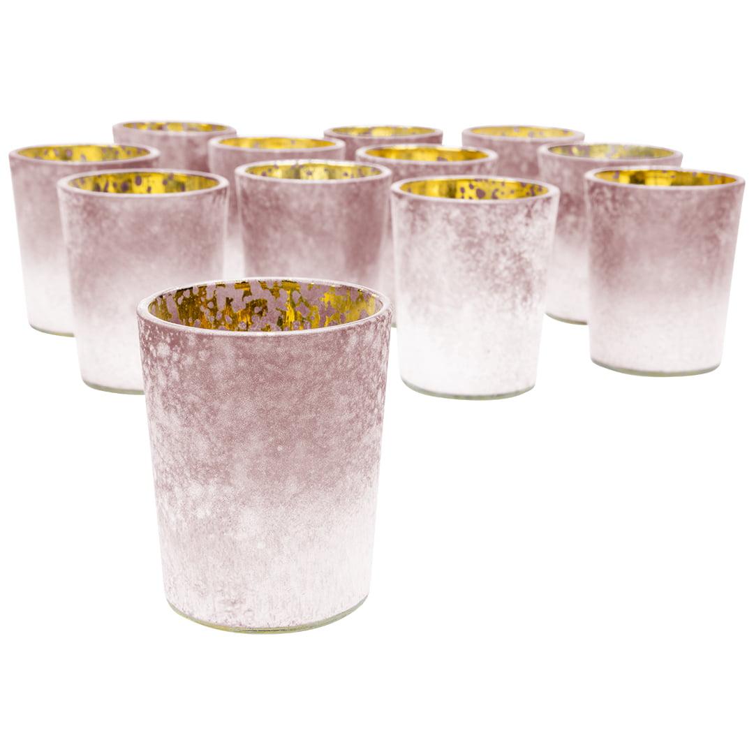 Koyal Wholesale 2 6 Tall Burgundy Frosted Ombre Mercury Glass Votive Candle Holders Set Of 12 Bulk Tealight Holders Walmart Com Walmart Com