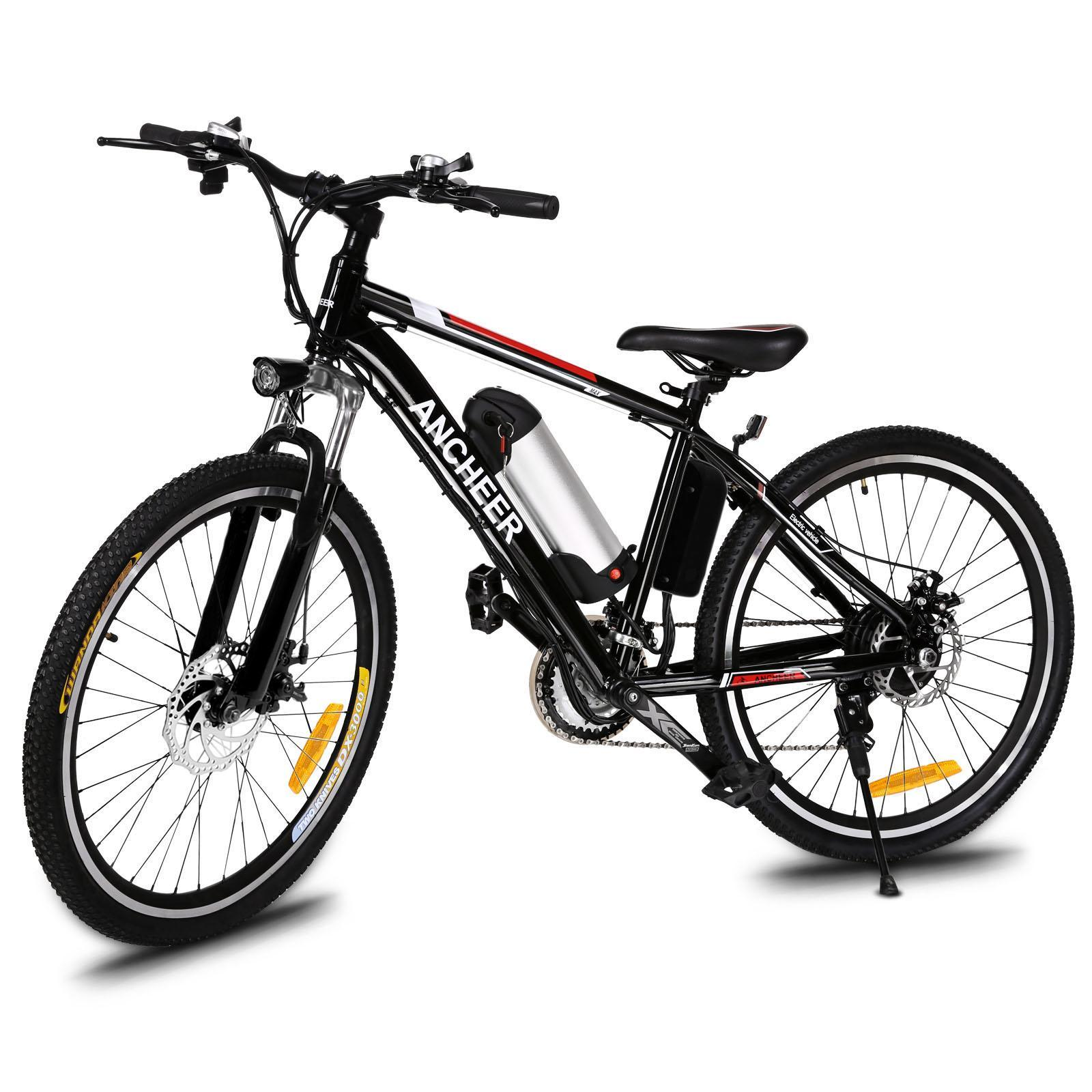 "Ancheer Power Plus 25""21 Speed System Electric Bike Mountain Bicycle with Removable Lithium-Ion Battery, Battery Charger"