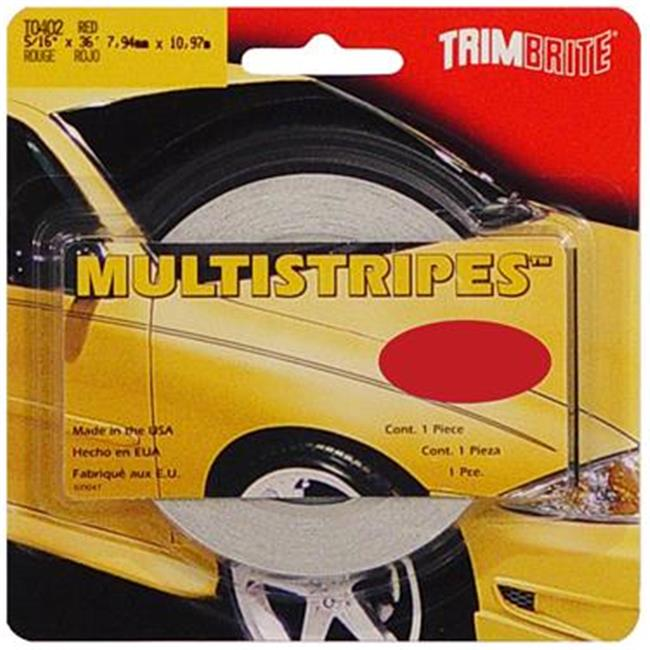 TRIMBRITE T0402 Pinstripe Tape, Red, 0. 31 inch X 36 Ft.