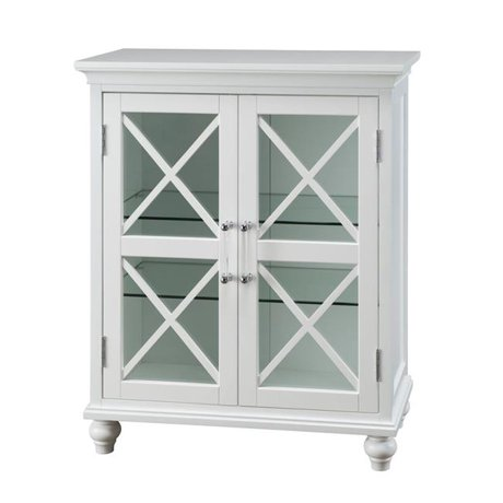 Tremendous Elegant Home Fashions Elg 632 Blue Ridge 2 Door Floor Cabinet In White Interior Design Ideas Clesiryabchikinfo