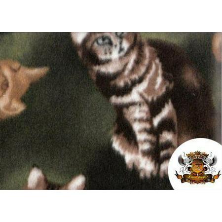 Fleece Printed Fabric Printed Animals Cats / 58