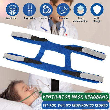 Universal Replacement Headgear Head Band Headband FOR Philips* Reese Mouth Headband CPAP Ventilator Breathing Machine Without Mask,