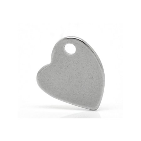 20pcs Wholesale Stainless Steel Curved Heart Charm Pendant Tags Findings - Wholesale Charms