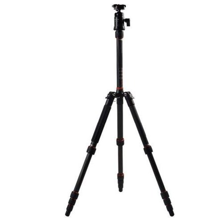 FotoPro X-Go 5-Section Carbon Fiber Tripod Kit with Built-In Monopod, FPH-42Q Ball Head ()