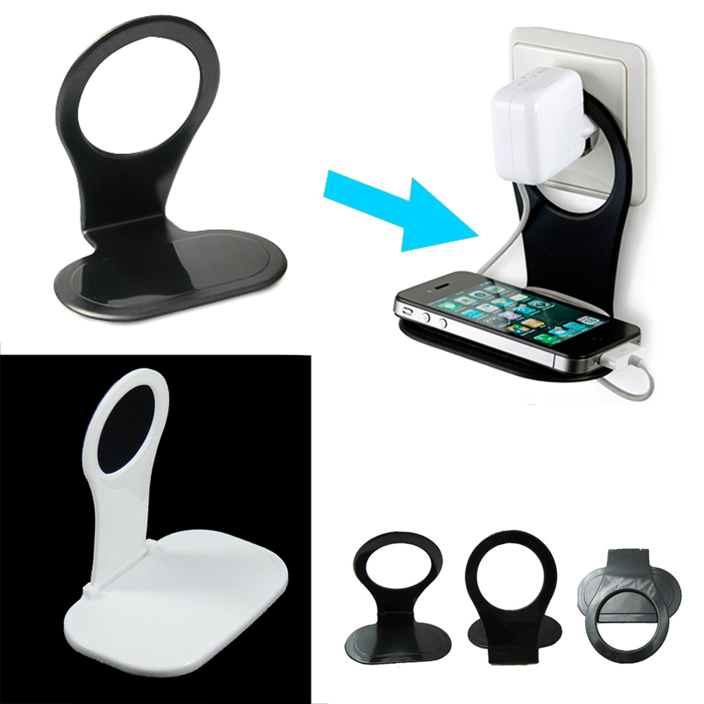 2 Pack Cell Phone Wall Charging Rack Cable Holder Stand Organizer Smartphone Mp3
