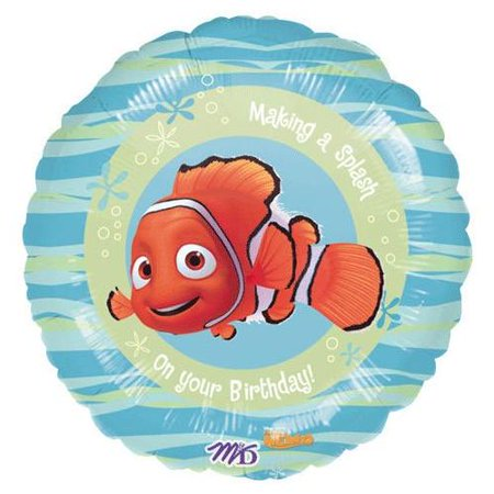 Finding Nemo Party Supplies: 18 inch Mylar Balloon. (Nemo Pinata)