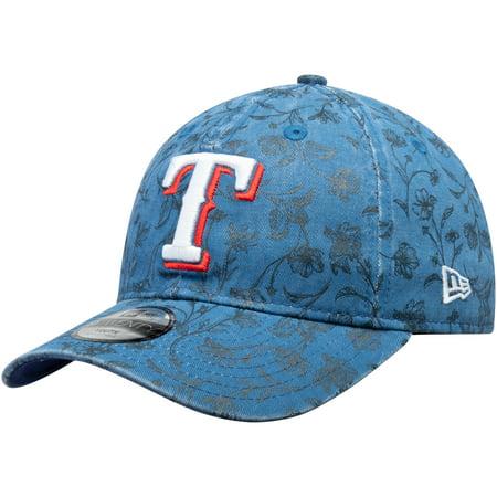 purchase cheap c2a99 dec95 Texas Rangers New Era Girls Youth Floral Peek 9TWENTY Adjustable Hat - Royal  - OSFA