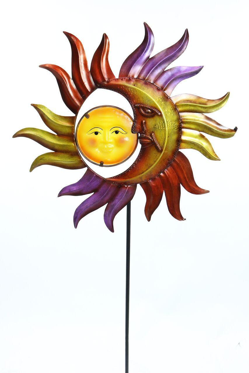 Sun and Moon Garden Stake by Benzara