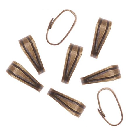 Antiqued Brass Snap Bail For Jewelry Small 6mm (50 Pieces) (Jewelry Snaps)