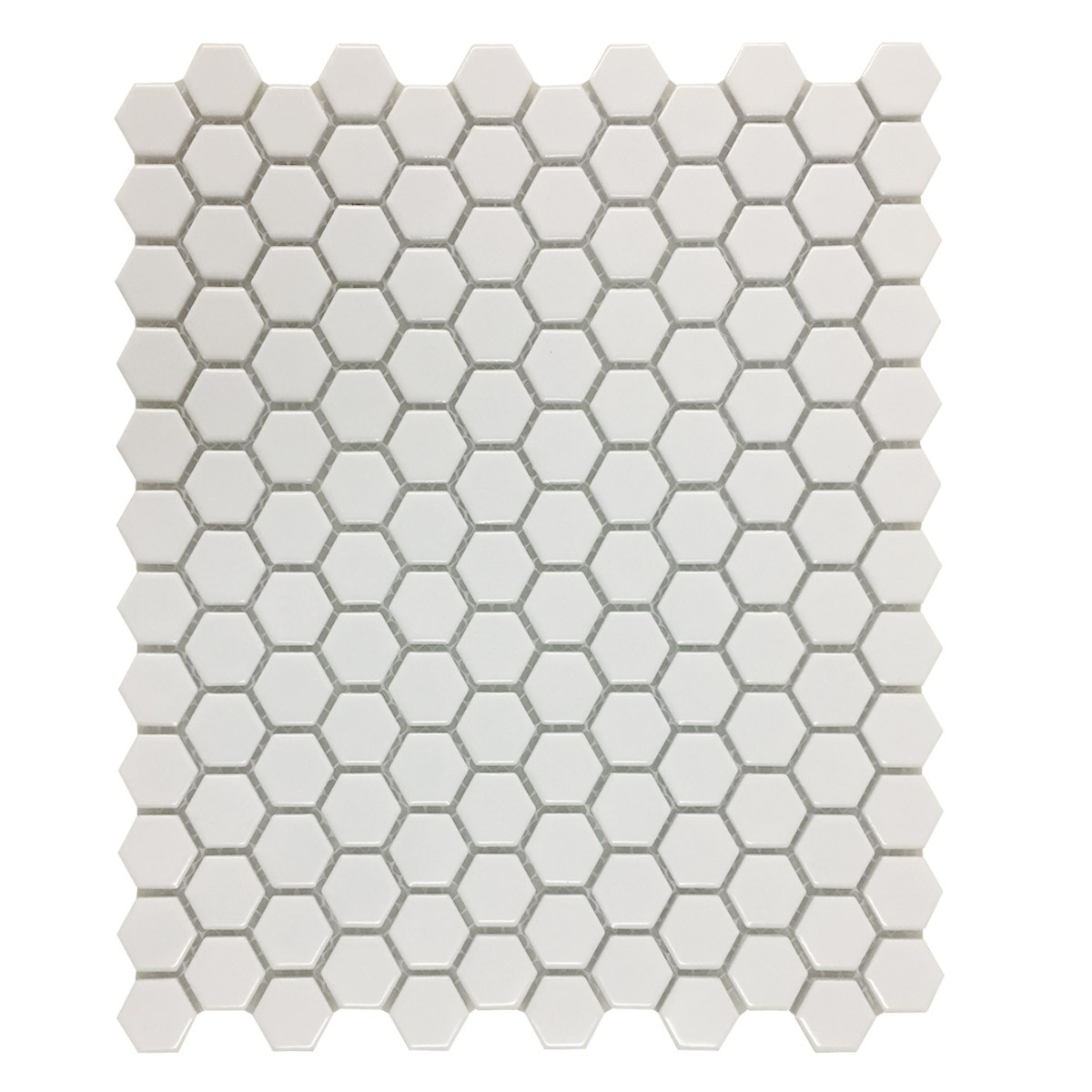 Porcelain Mosaic Hexagon Glossy White Floor and Wall Tile 19.3 SQ FT
