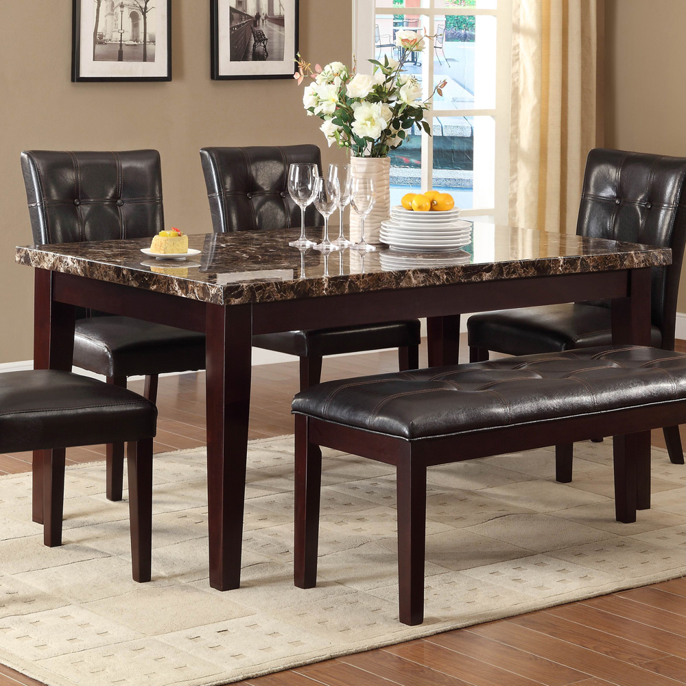 Home Elegance 2544-64 Teague Dining Table Only in Espresso
