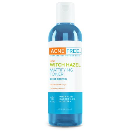 AcneFree Witch Hazel Mattifying Face Toner for Shine Control, 8.4 oz. (Disney Halloween Witch Hazel)