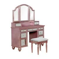 Furniture of America Stella Contemporary Vanity Set, Rose Gold